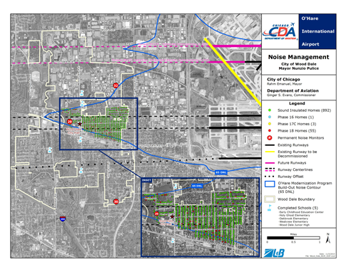 Wooddale Illinois Map.Community Aerial Maps O Hare Noise Compatibility Commission